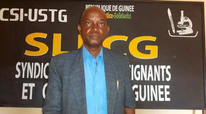 Syndicaliste Mr. Aboubacar SOUMAH du SLECG